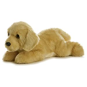 "Goldie Flopsie - 12"" - 41OLR3Xx9cL - Aurora World Flopsie Plush Goldie Labrador Dog, 12″"