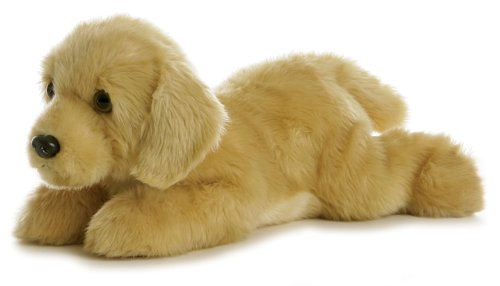 Aurora World Flopsie Plush Goldie Labrador Dog, 12""