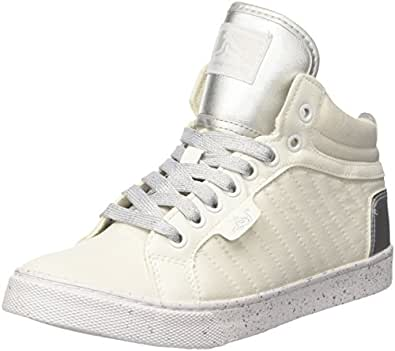 Boston Raw, Zapatillas Altas para Mujer, Blanco (White-Silver 088), 41 EU Drunknmunky