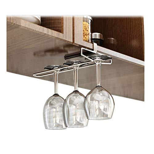 Single Row Wine Glass Rack Kitchen 304 Stainless Steel Drain Hanging Multi-Function Household Storage 25.8cm11cm7.3cm - Wine Rows
