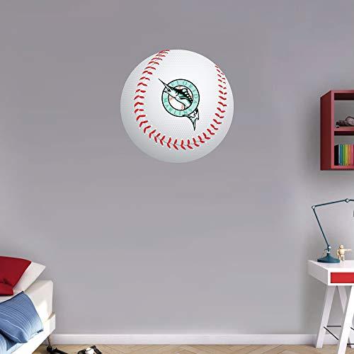 Florida Marlins Logos - Sport Florida Marlins MLB Logo Ball Art Wall Decor Sticker 12'' X 12''
