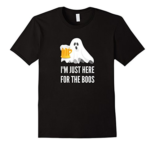 Glass Of Beer Costume - Mens I'm Just Here For The Boos | Funny Halloween Costume 2XL Black