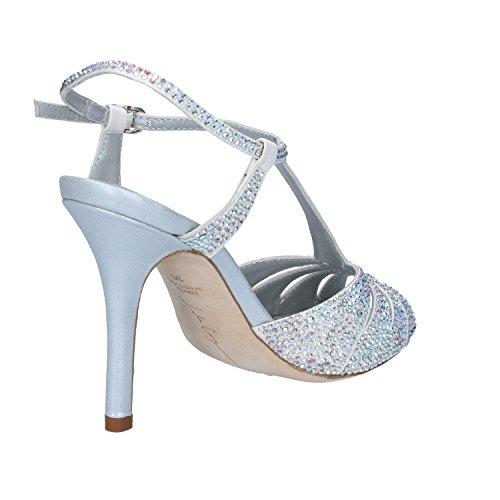EU Sandalen Silber Damen 36 Größe LOLA CRUZ Silber Schwarz RW8qFxgZw