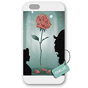 diy case Customized Disney Beauty and The Beast Case Cover For Apple Iphone 4/4S Hard Plastic White 10