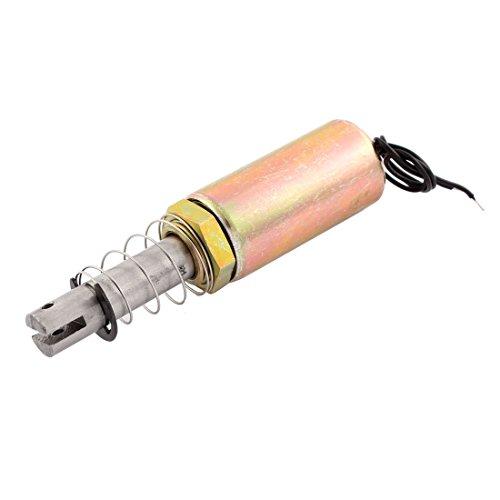 uxcell DC 12V 10mm 1Kg Pull Type Solenoid Electromagnet w Spring Plunger