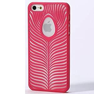 JJEThe Color Carving Leaves Case for iPhone 5/5S , Blue