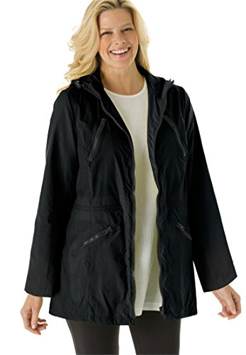 Women's Plus Size Lightweight Hooded Anorak Jacket With ...
