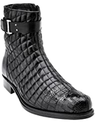 Belvedere Mens Libero Quilted Caiman Ankle Boot