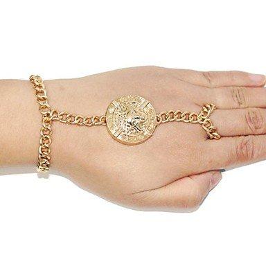 pulsera de oro camafeo vintage para mujer pulseras& brazaletes con anillo de aliexpress pulserias joyería de