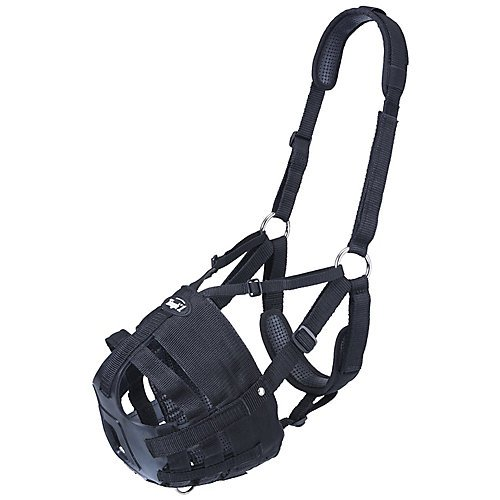 Tough-1 Delux Easy Breathe V Grazing Muzzle Horse
