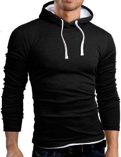 Fit Gb101 Noir Pull Shirt Grin Slim À amp;bear Sweat Capuche Z8q4Az