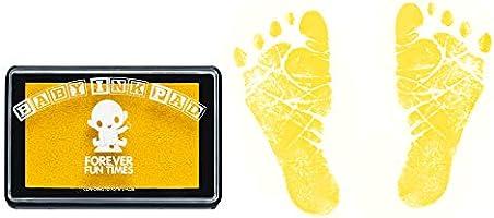 Erhalten Sie Hunderte von Detailabz/ügen mit einem babysicheren Stempelkissen Sauberes und sicheres Baby Hand Gold und Fu/ßabdruck-Set von Forever Fun Times