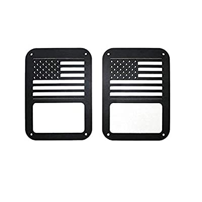 US Flag Tail Light Covers Guards Protectors for 2007-2020 Jeep Wrangler JK Unlimited Accessories: Automotive
