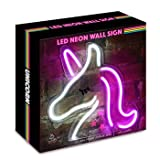 Isaac Jacobs LED Neon Wall Sign with USB Wire (Unicorn)