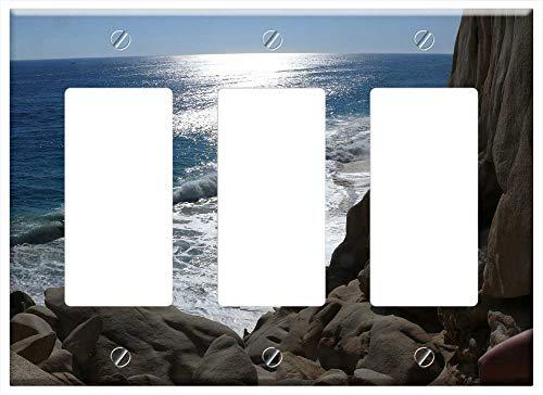 Switch Plate Triple Rocker/GFCI - Mexico Cabo San Lucas Ocean Rocks Water The Sun