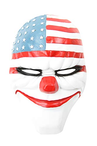 Boujee Gadgets Payday 2 Themed Costume Cosplay Mask (Payday 2 Dallas Mask) -