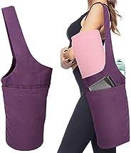 MoKo Yoga Mat Bag, Yoga Mat Tote Sling Carrier Lightweight Yoga Mat Carry Bag with Large Pocket & Zipper P