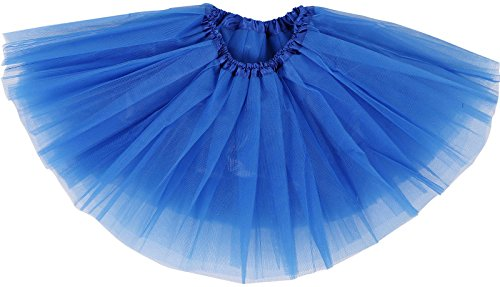 Toddler's 4 Layered Tulle Classic Princess Dress-up Tutu Skirt,Royal Blue,6-18 mont