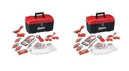 Master Lock Lockout Tagout Kit, Electrical Lockout Kit with Thermoplastic Safety Padlocks, 145E410KA (2-(Pack))