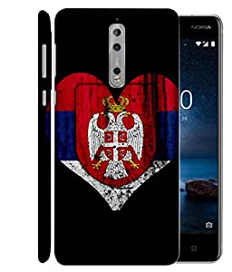 ColorKing Football Serbia 05 Black shell case cover for Nokia 8