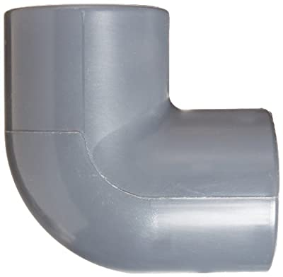 Spears 806 Series PVC Pipe Fitting, 90 Degree Elbow, Schedule 80, Socket