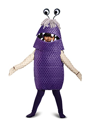 [Boo Deluxe Toddler Costume, Purple, Large (4-6)] (Monster Inc Mike Costume)