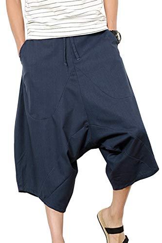 Simgahuva Mens Loose Pants Baggy Elastic Waist Casual Pants