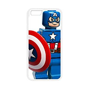 Captain America Iphone6 plus 5.5 inch Phone Case Black white Gift Holiday Gifts Souvenir Halloween Gift Christmas Gifts TIGER157027