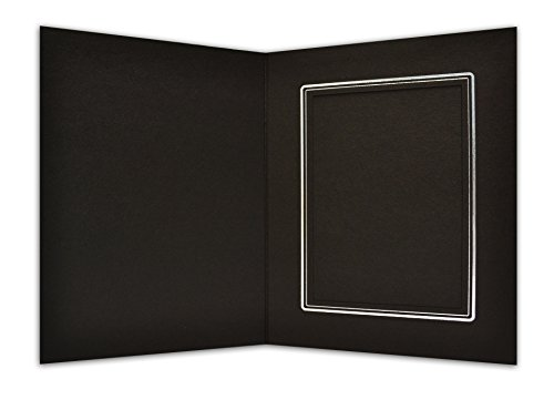 Golden State Art, Cardboard Photo Folder for a 4x6 Photo (Pack of 100) Black Color by Golden State Art (Image #1)