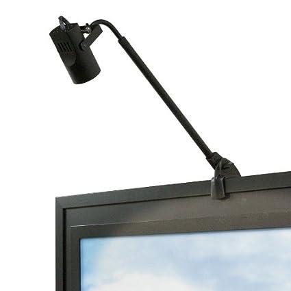 WAC Lighting DL 007 BK Adjustable Arm 007 Display Light With Clamp And Plug