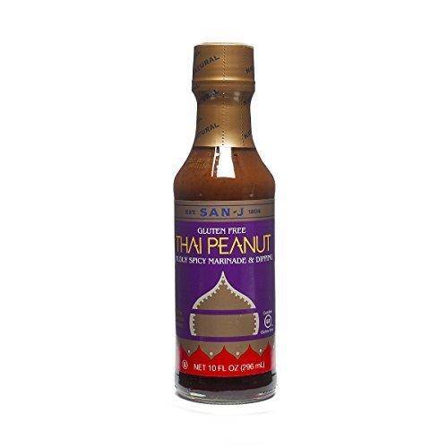 San-J Thai Peanut Mildly Spicy Marninade & Dipping Gluten Free, 10 ozSan-J Thai Peanut Mildly Spicy Marninade & Dipping Gluten Free, 10 oz (Thai Chicken Spring Rolls)
