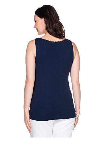 sheego BASIC Top tallas grandes Mujer azul marino