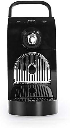 Qinmo Iced Macchina for Il caffè, Semi-Automatica Espresso Machine, Capsule caffè, Un Solo Pulsante di Pulizia Automatica, Regolazione Automatica della Temperatura, l'uso a casa (Color : Black)