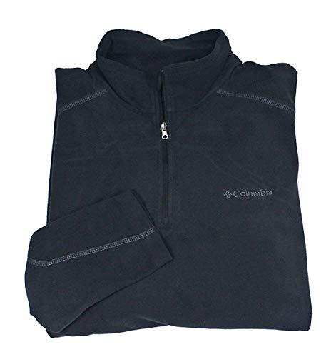 COLUMBIA Men Pine Ridge Half Zip Fleece Pullover Sweatshirt (S, Black)