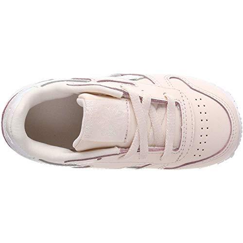 Niñas Reebok De Para Zapatillas Gimnasia Classic Leather Palido Rosa nqqzvASFwT