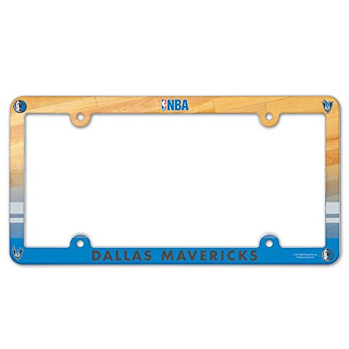 Full Color License Plate - WinCraft NBA Dallas Mavericks License Plate with Full Color Frame