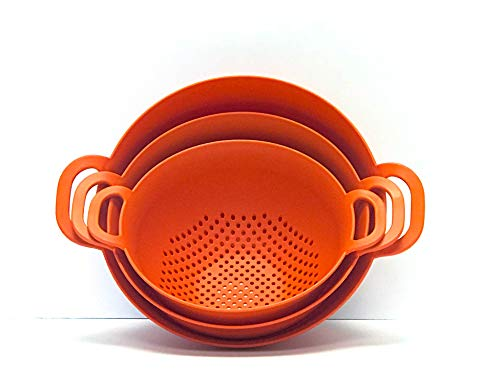 Mintra Home Colander 3pk (Assorted 3pk, Orange)