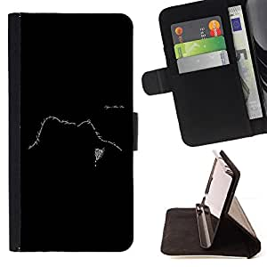 DEVIL CASE - FOR Sony Xperia m55w Z3 Compact Mini - Text Design Face Black White Meaning - Style PU Leather Case Wallet Flip Stand Flap Closure Cover