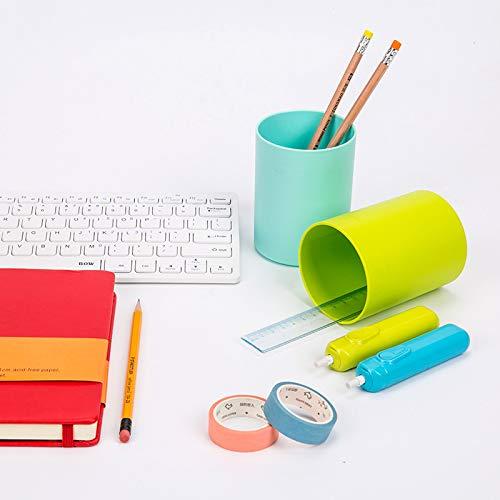 Vommpe - Portalápices redondo, color caramelo, de plástico, para estudiantes, papelería Small verde: Amazon.es: Hogar