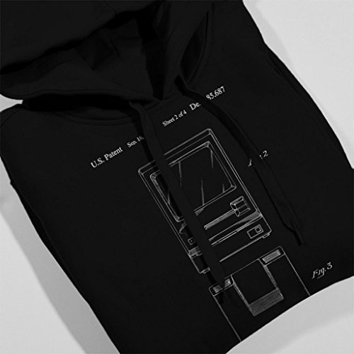 Apple Apple Coto7 Blueprint Blueprint Sweatshirt Macintosh Hooded Back Views Women's Front Black Patent RqFSwqd