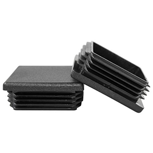 Prescott Plastics 4 Pack: 2 Inch Square Plastic Plug, Tubing End Cap, Durable Chair - Tubing End Cap Square