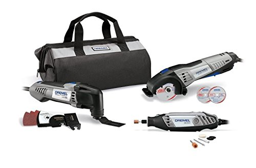 Dremel 3 Tools Combo Kit with Storage Bag and 15 Accessories - CKDR-04