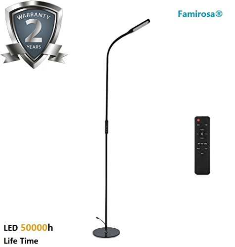 Floor Lamp LED Eye-Care Standing Lamp Remote Control with Brightness...