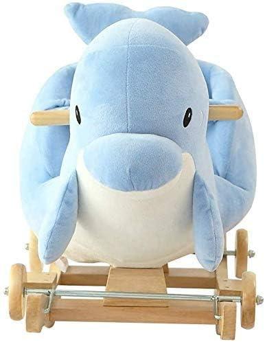 Alta qualità A Dondolo Infant Cavallo di Troia Dolphin Troia Musica Regalo Mobili Professionale