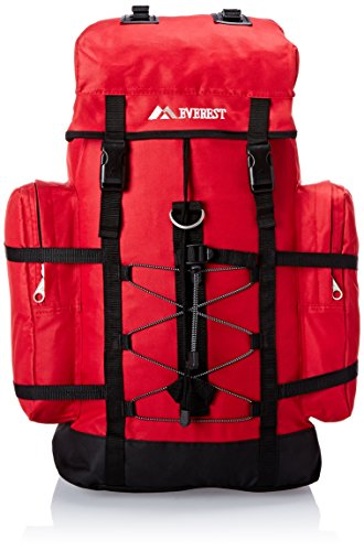Everest Hiking Pack, Red, One Size Backpack