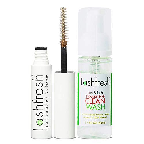 Lashfresh Eye and Lash Foaming Clean Wash + Eyelash Extension Conditioner with Silk Protein