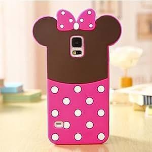 Teléfono Móvil Samsung - Cobertor Posterior - Diseño Especial - para Samsung S5 i9600 ( Rosado , Silicona ) , Pink