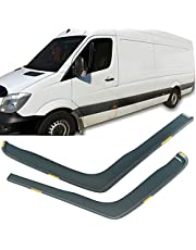 Set of 2 Wind Deflectors for Mercedes Sprinter MK2 2006-2018, Car Side Door Window Rain Guard Sun/Deflectors Visor, Front Rear Rain Shield/Wind Shield