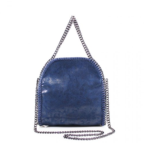YDezire® - Bolso para mujer, diseño con cadena azul marino