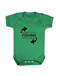Baby Fishing Clothes Born To Go Fishing Baby Grow Fisherman Gifts for Baby Boy